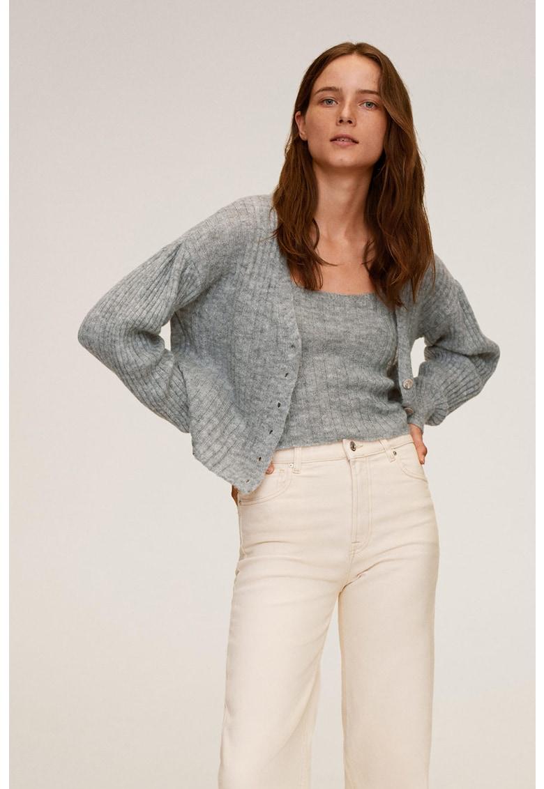 Cardigan din amestec de lana cu striatii Parton