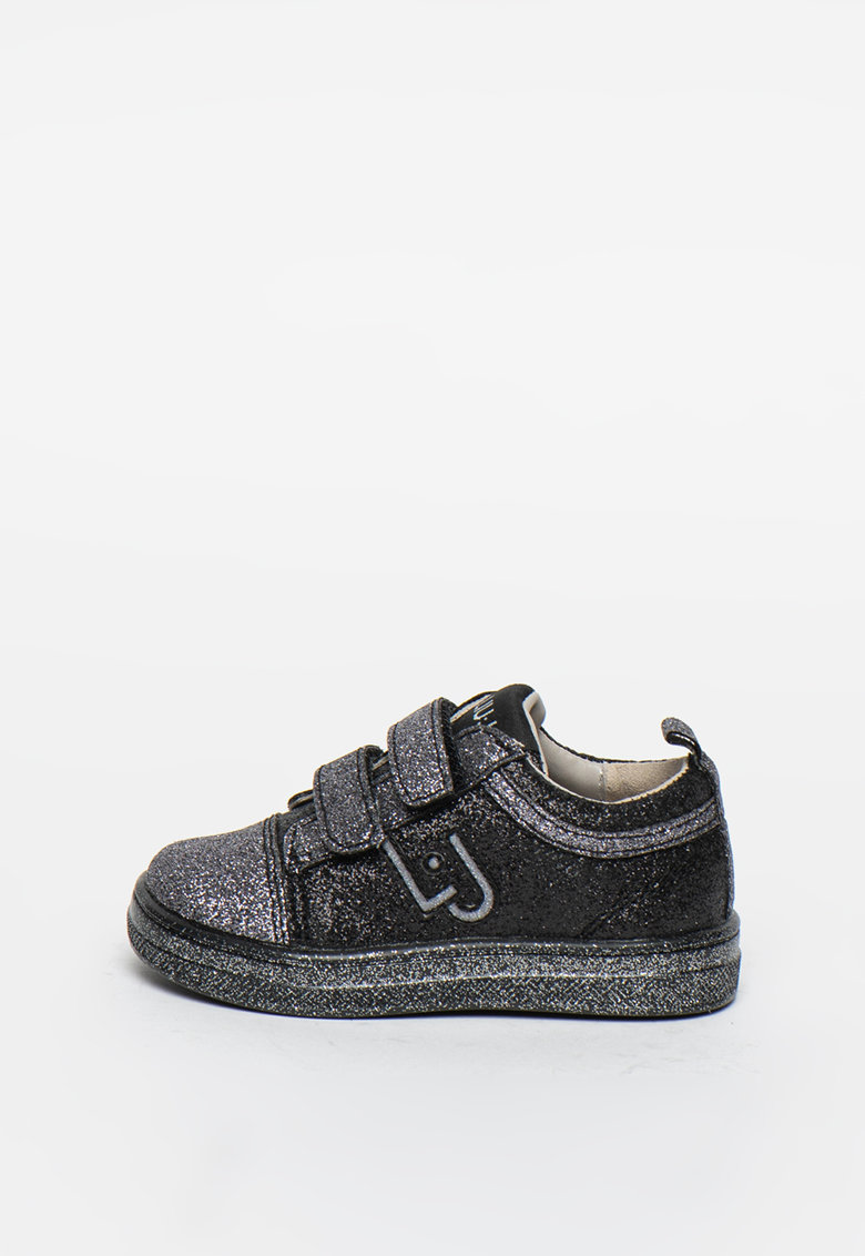 Pantofi sport cu velcro si aspect stralucitor Mini Alicia