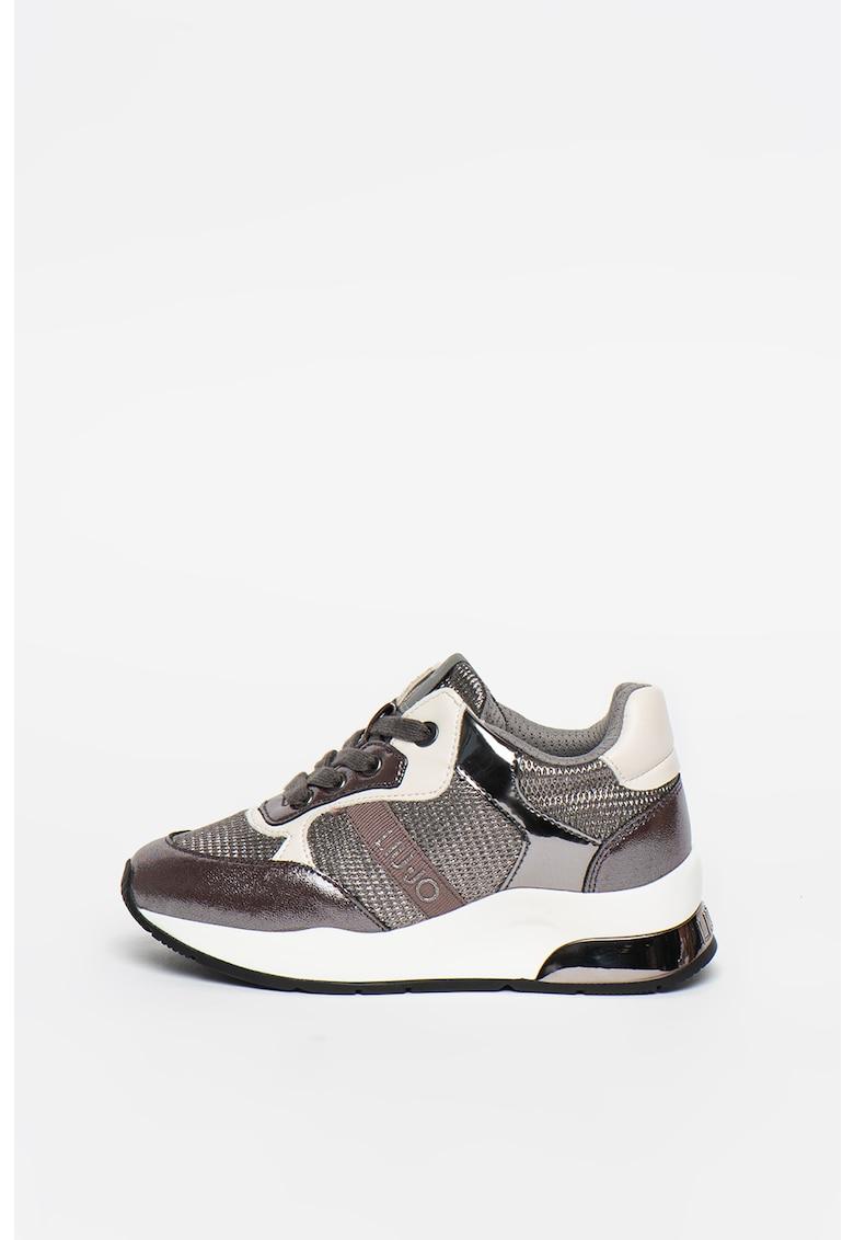 Pantofi sport cu insertii lacuite Karlie