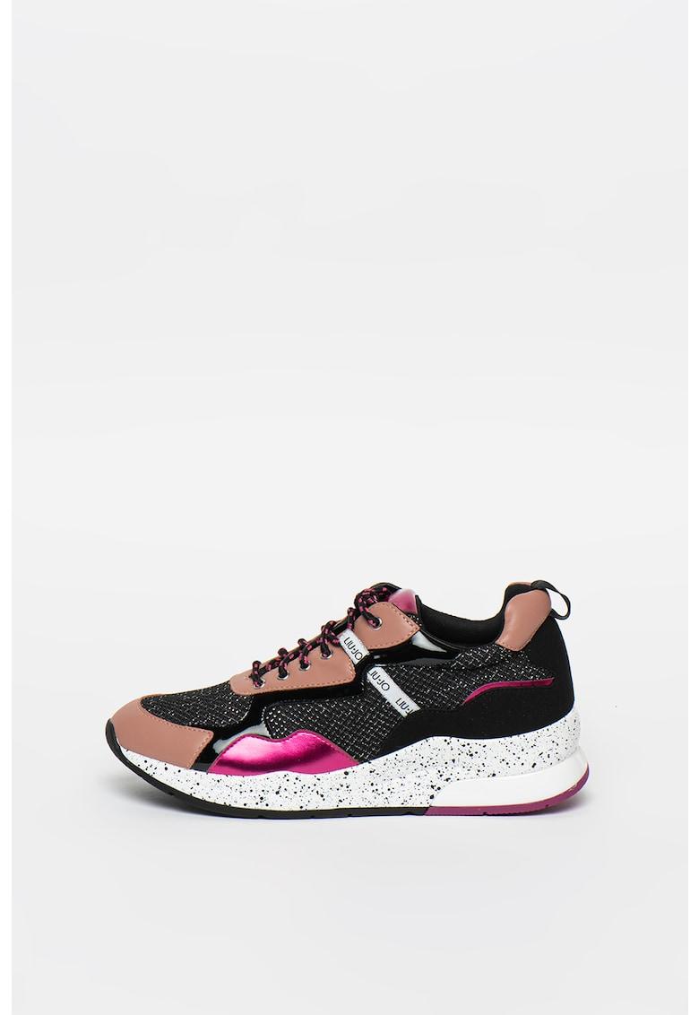 Pantofi sport cu insertii de plasa cu aspect stralucitor Karlie