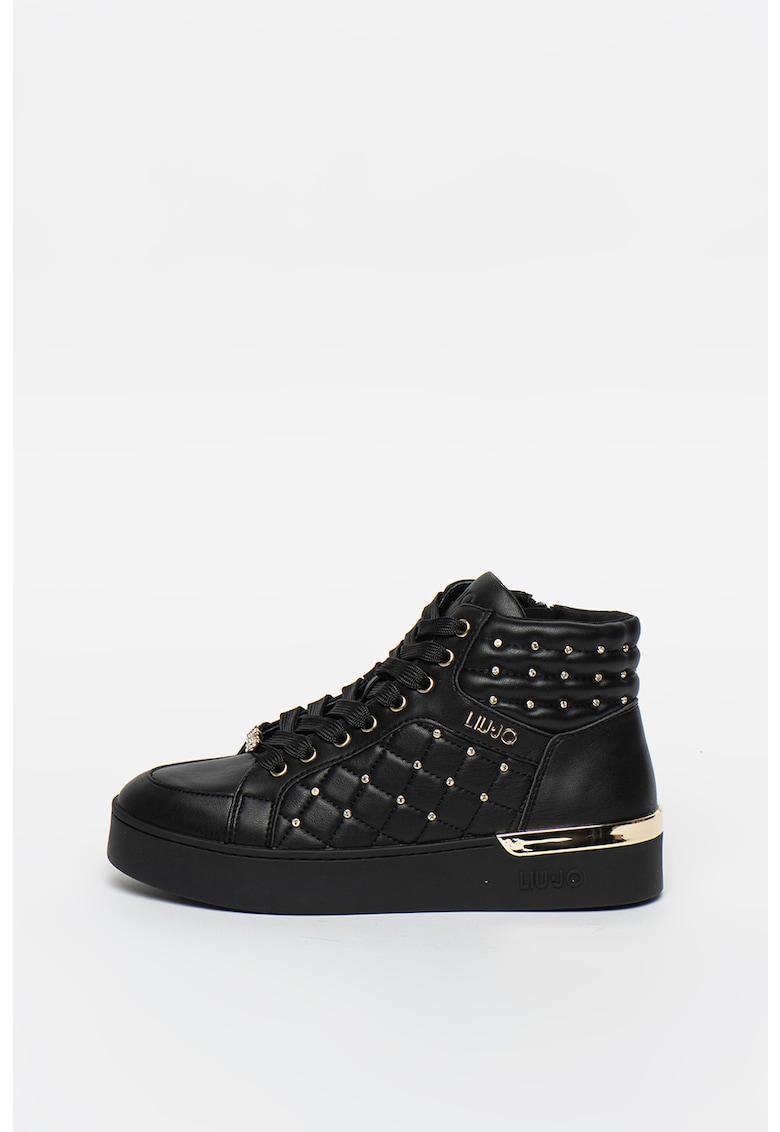 Pantofi sport mid-high de piele ecologica Silvia