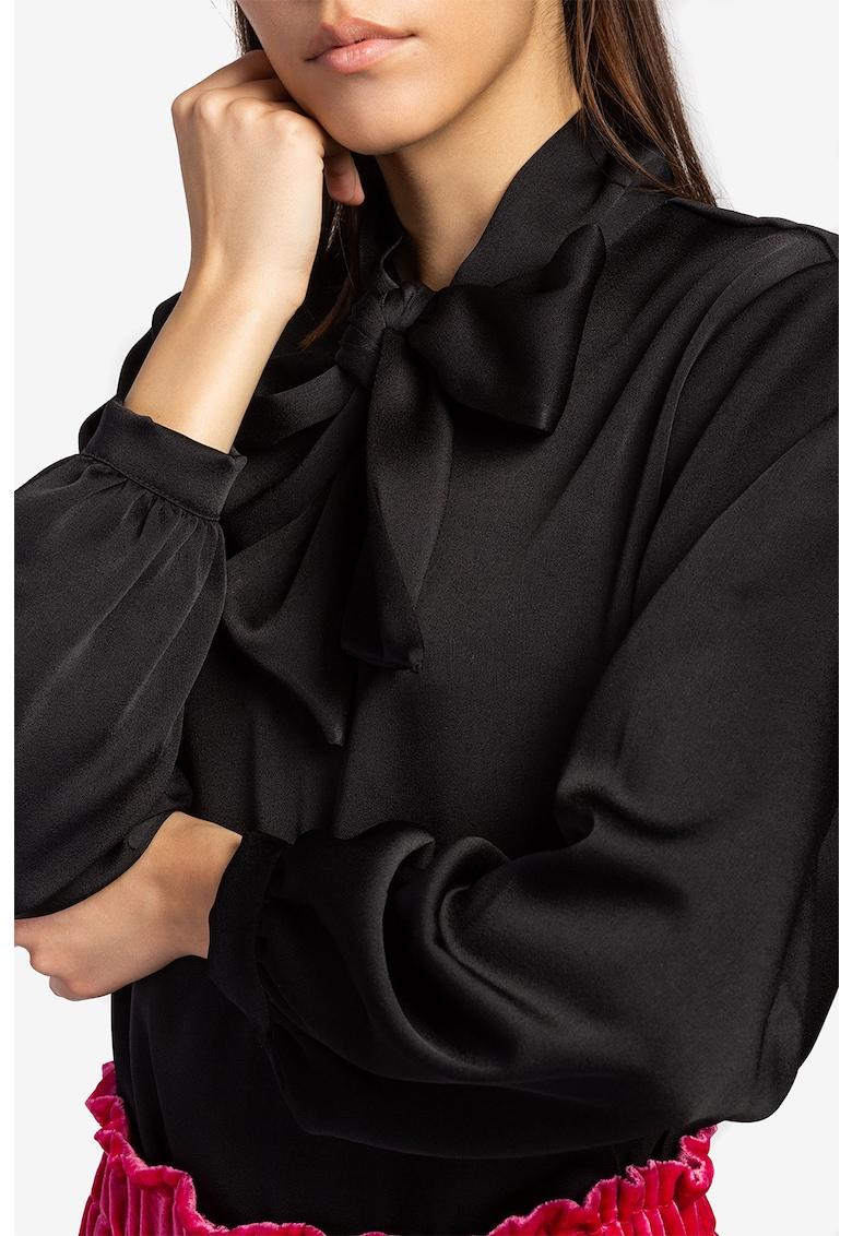 Bluza satinata cu funda imagine promotie