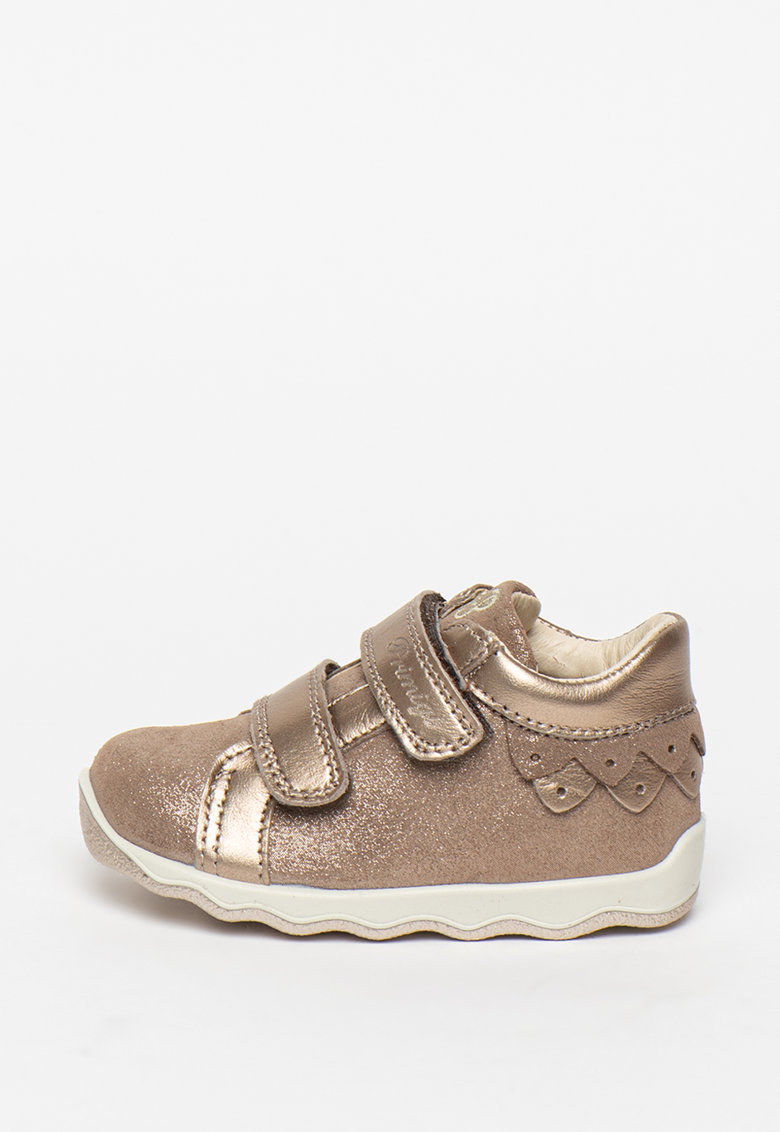 Pantofi de piele cu aspect stralucitor