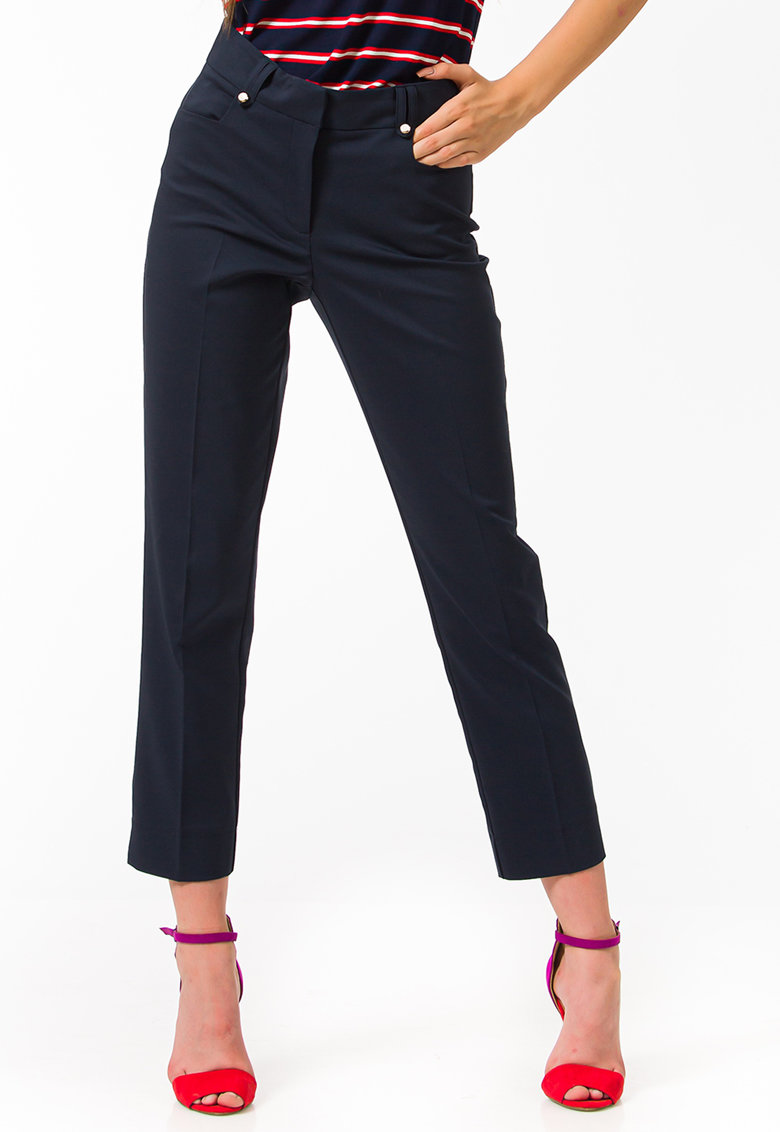 Pantaloni crop slim fit imagine fashiondays.ro