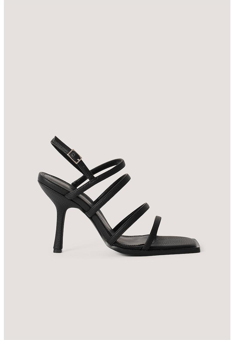 Sandale de piele ecologica - cu barete multiple