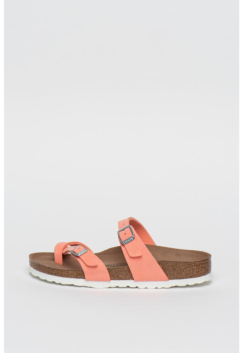 Papuci flip-flop de piele ecologica Mayari imagine