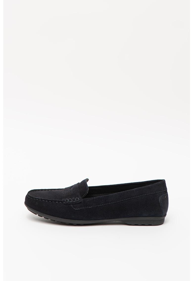 Pantofi loafer de piele intoarsa Elida imagine
