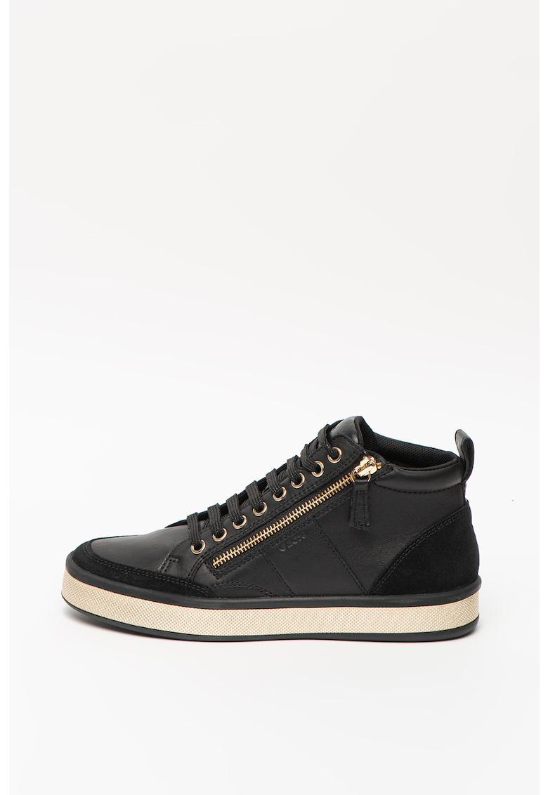 Pantofi sport mid-cut de piele cu insertii de piele intoarsa Leelu