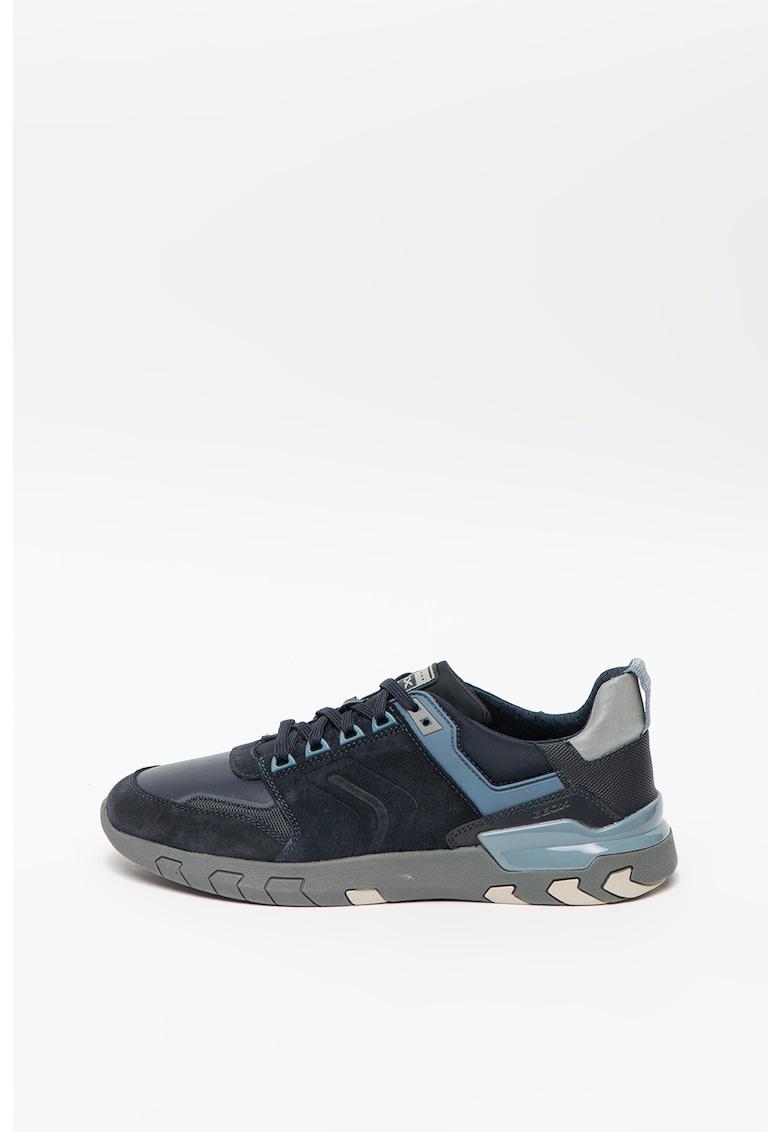 Pantofi sport cu garnituri de piele intoarsa si velcro Grecale imagine
