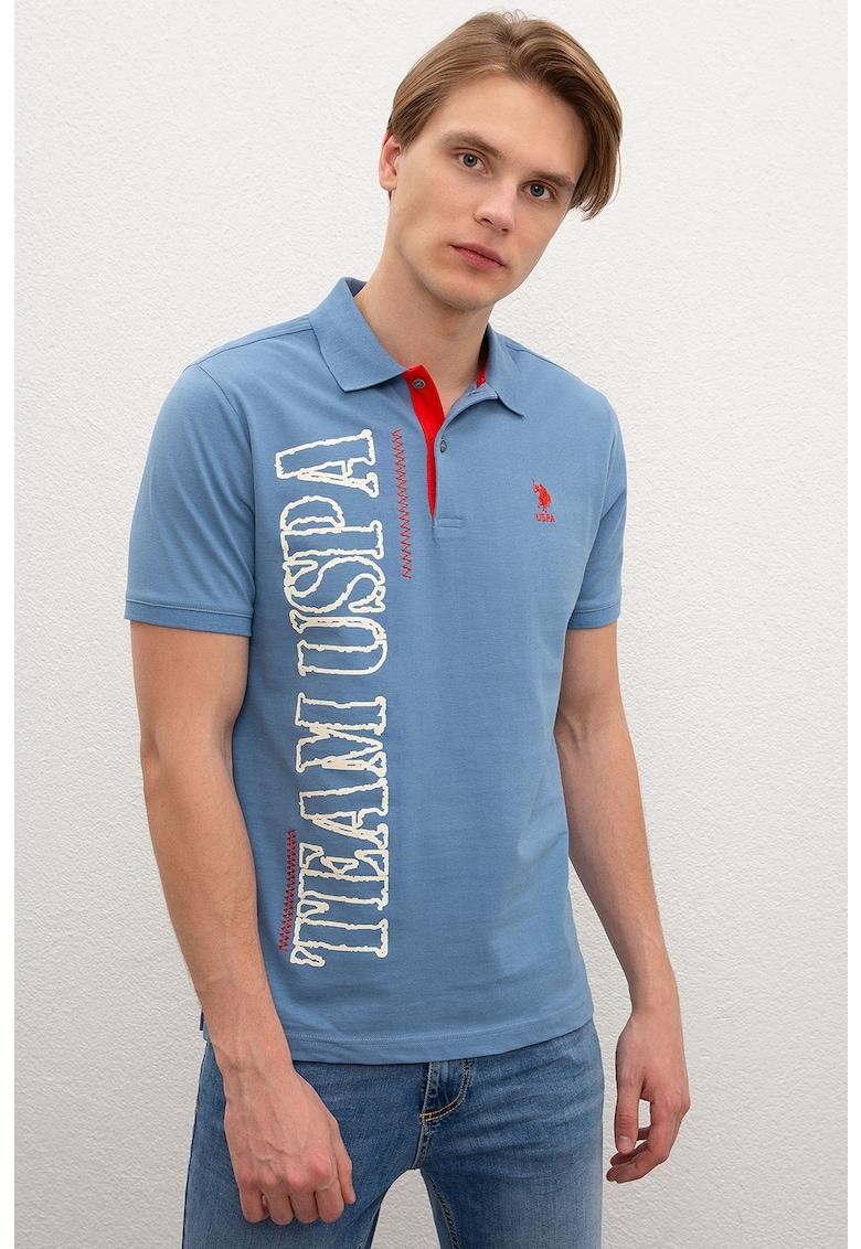 Tricou polo regular fit cu logo supradimensionat de la US Polo Assn