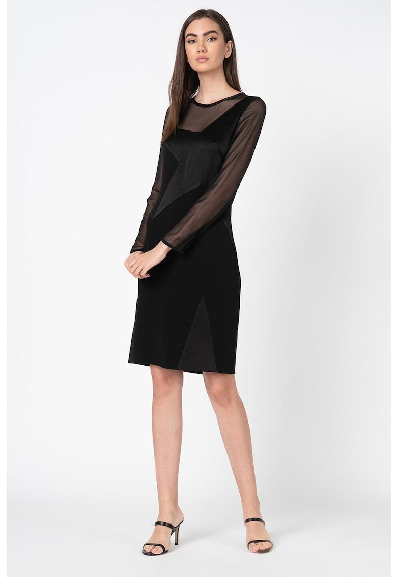 Rochie mini cu segmente din plasa