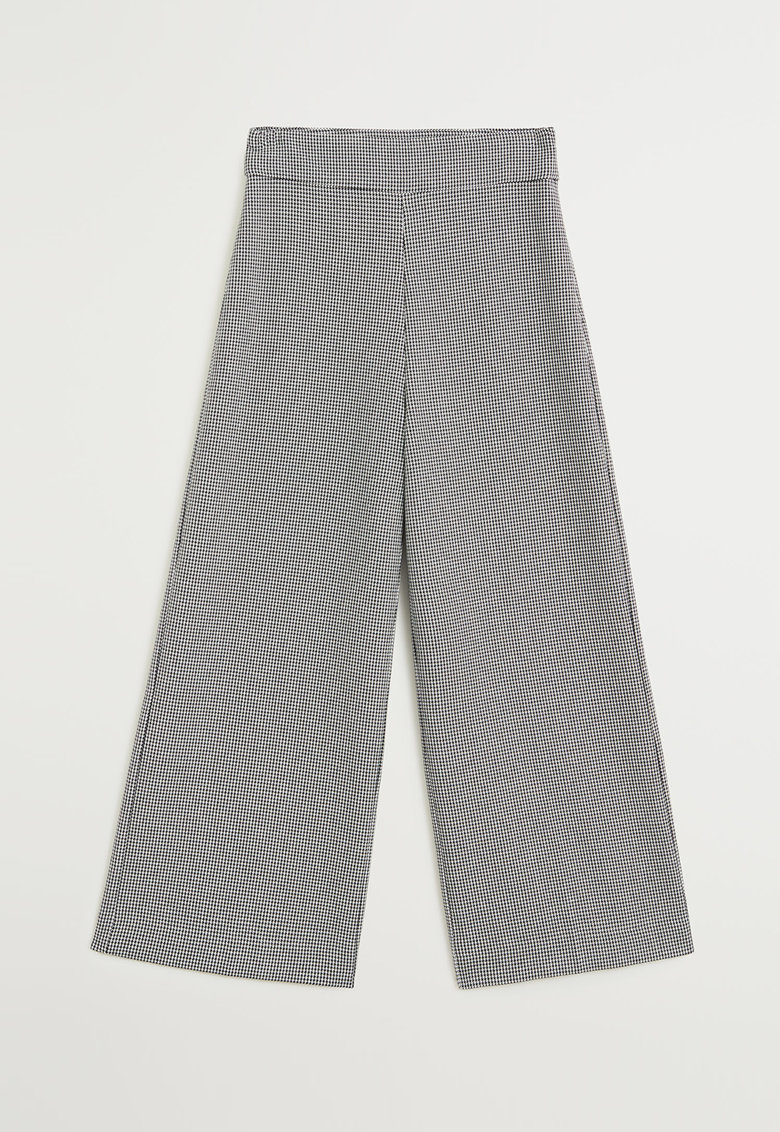 Pantaloni culotte cu model houndstooth discret Charles
