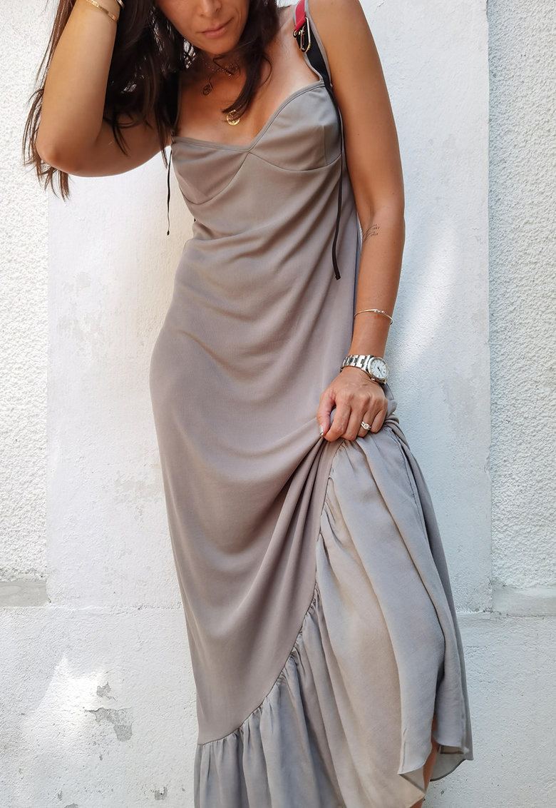 Rochie maxi din amestec de modal