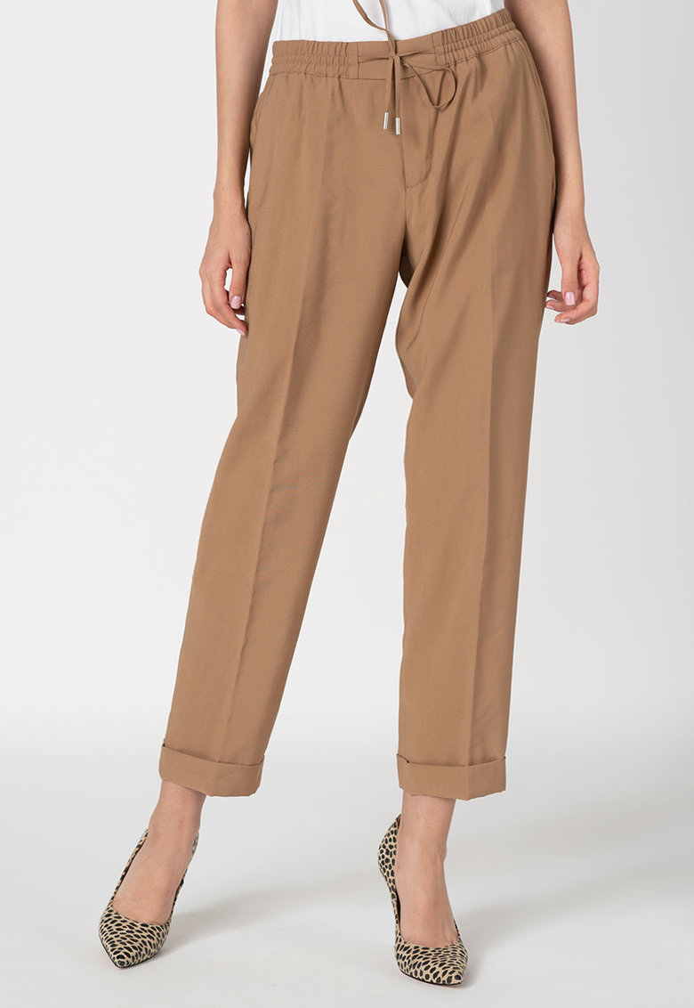 Pantaloni crop cu snur in talie de la Marc OPolo