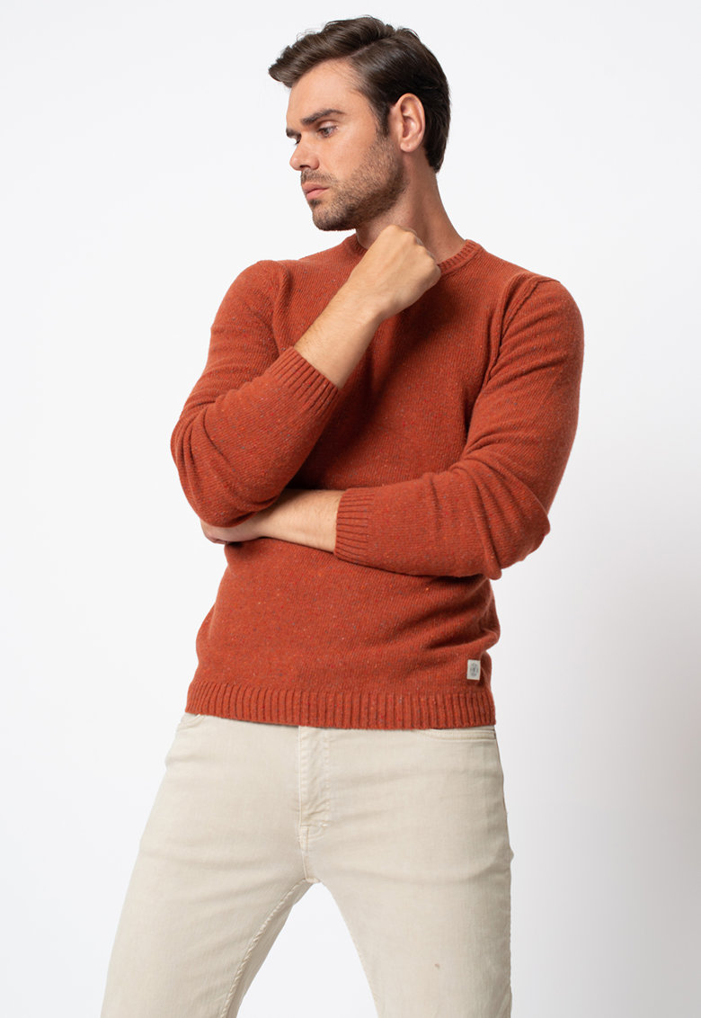 Pulover din amestec de lana virgina