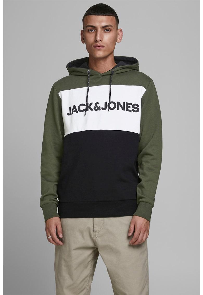 Hanorac cu model colorblock si logo de la JackJones