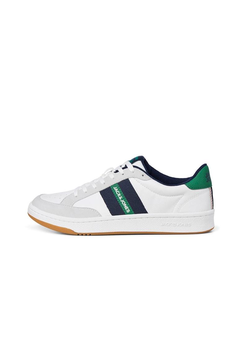 Pantofi sport din piele ecologica cu garnituri contrastante