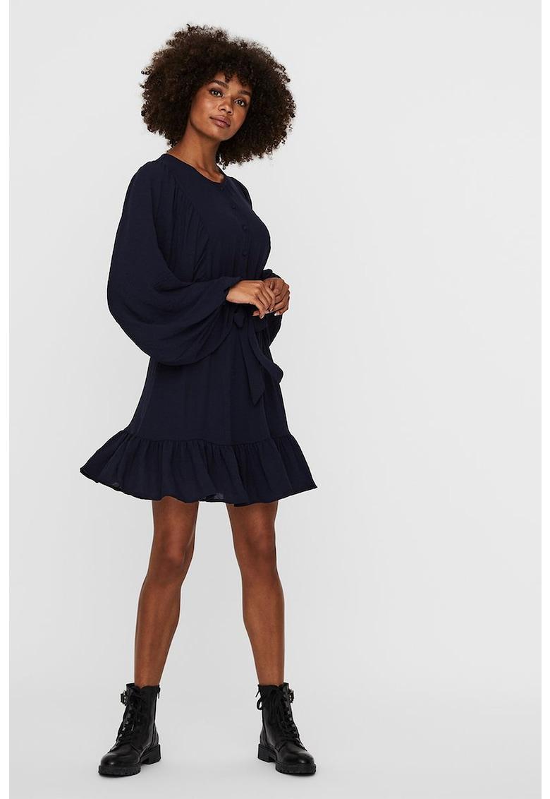 Rochie mini evazata cu cordon in talie imagine fashiondays.ro