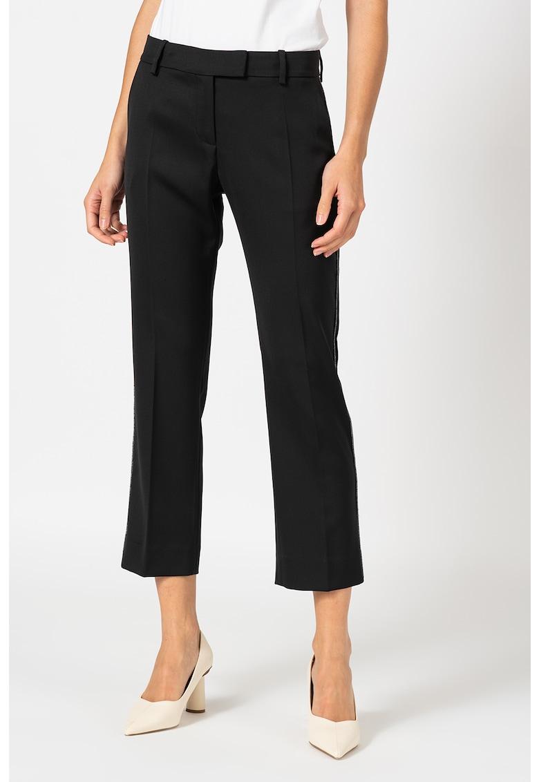Pantaloni crop cu detalii stralucitoare imagine fashiondays.ro