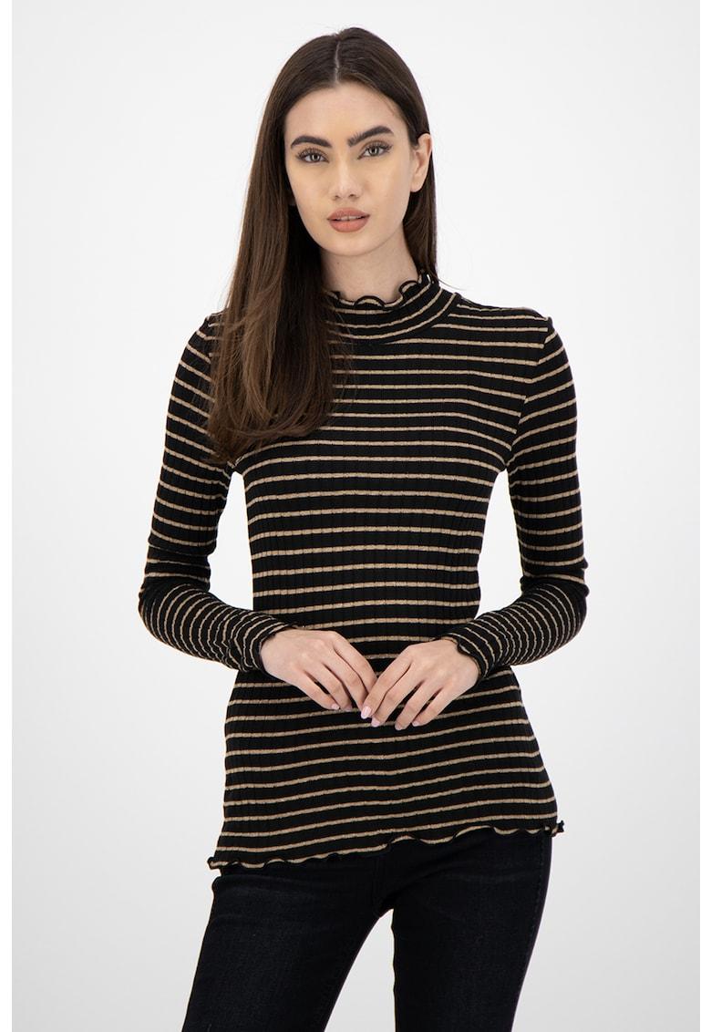 Bluza in dungi cu guler scurt imagine