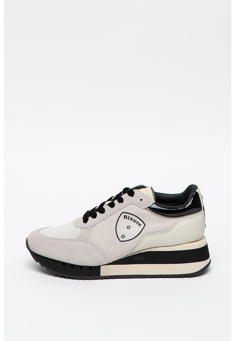 Pantofi sport wedge cu detalii de piele intoarsa Charlotte imagine