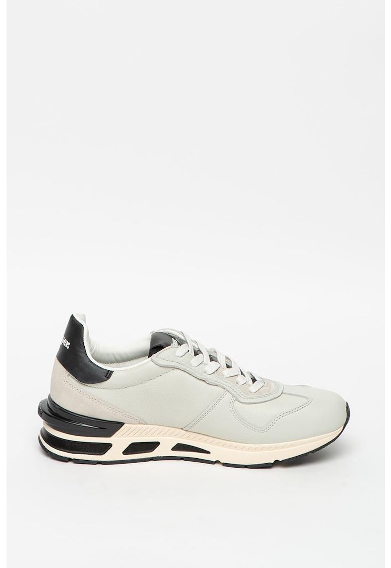 Pantofi sport de piele cu garnituri de piele ecologica imagine