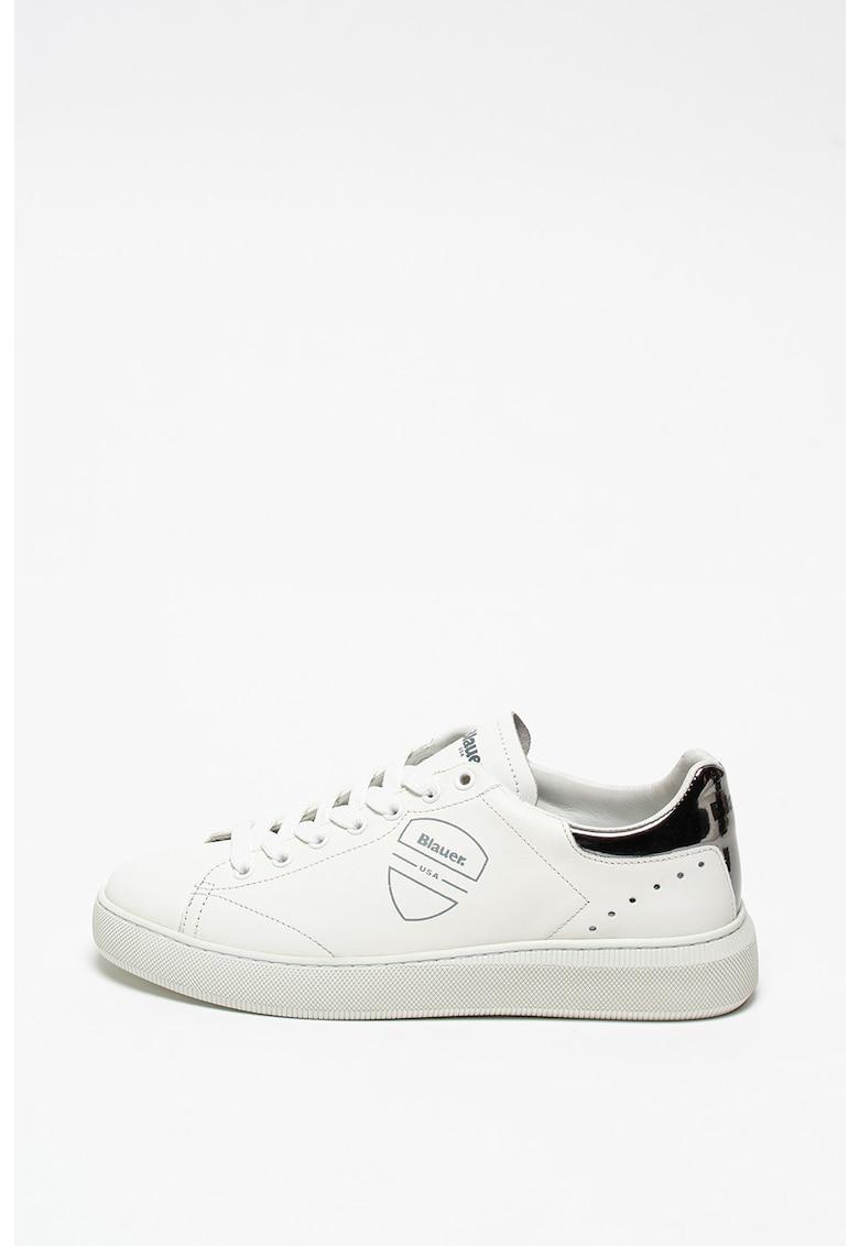 Pantofi sport de piele cu garnitura de piele lacuita Kendall imagine