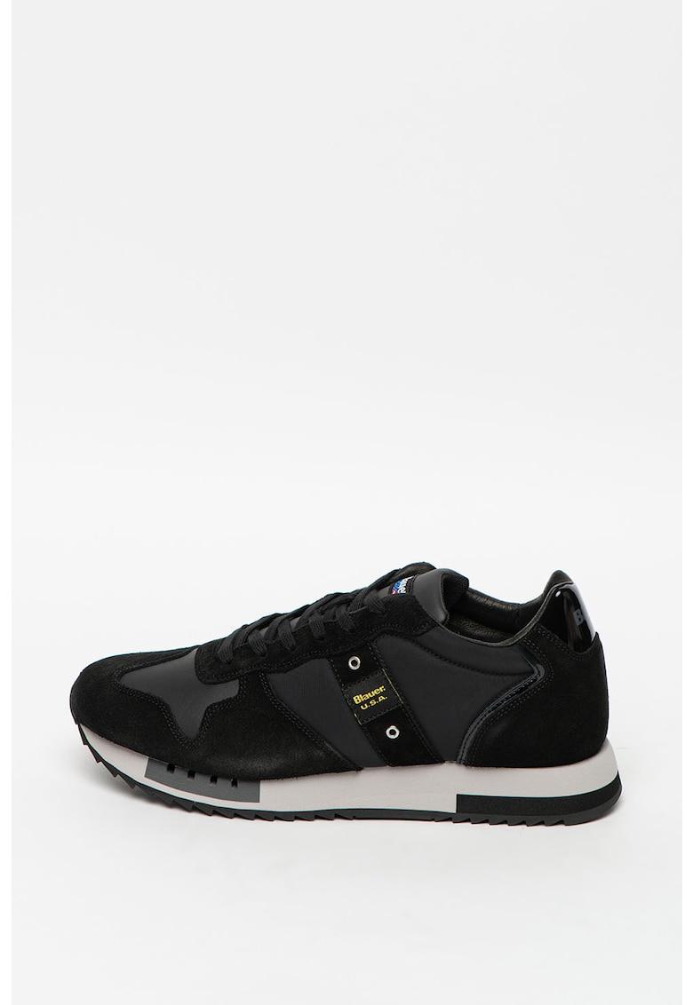 Pantofi sport cu insertii de piele intoarsa Queens