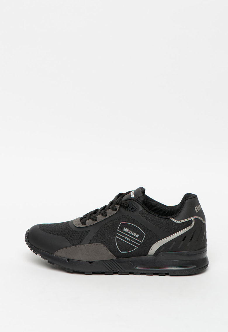 Pantofi sport de piele ecologica cu insertii de plasa Tyler imagine