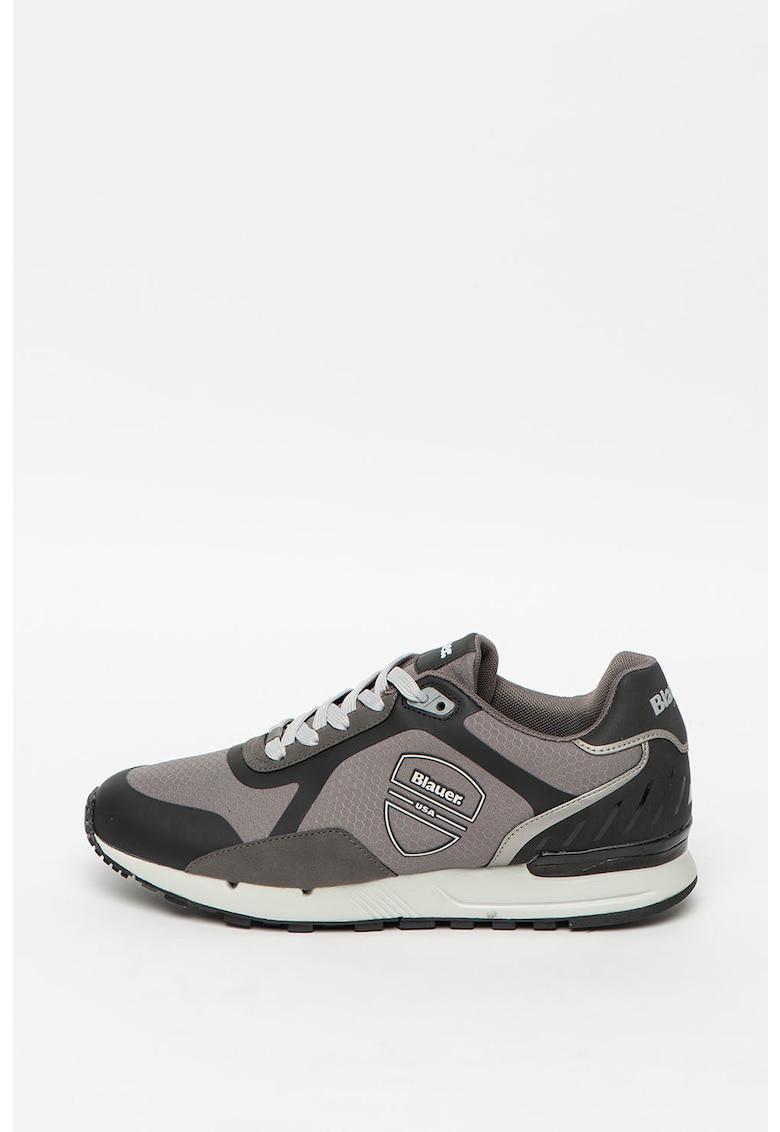 Pantofi sport de piele ecologica si material textil Tyler imagine