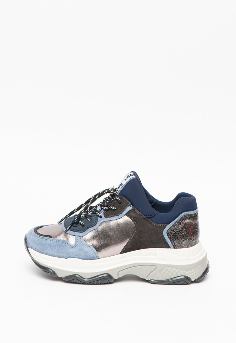 Pantofi sport de piele intoarsa - cu garnituri de plasa Baisley