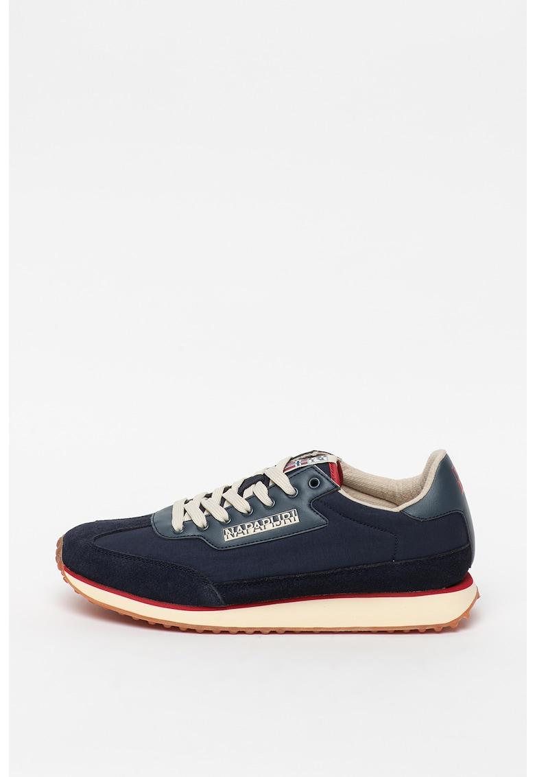 Pantofi sport cu detalii de piele intoarsa imagine
