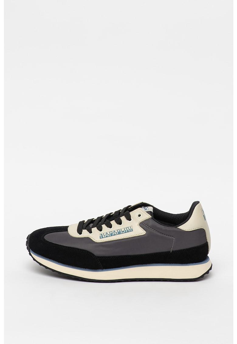 Pantofi sport cu insertii de piele 1