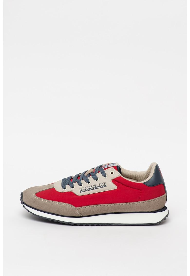 Pantofi sport cu insertii de piele intoarsa si piele Vantage 1
