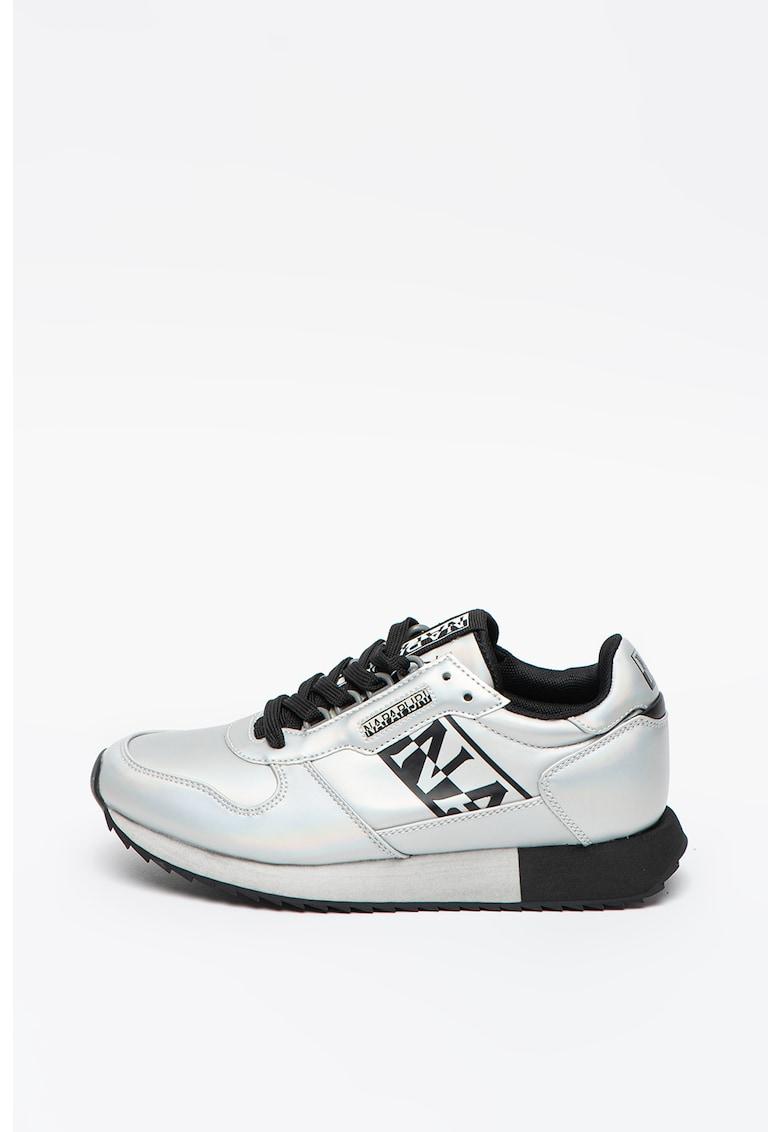 Pantofi sport din piele ecologica cu aspect metalic Vicky poza fashiondays