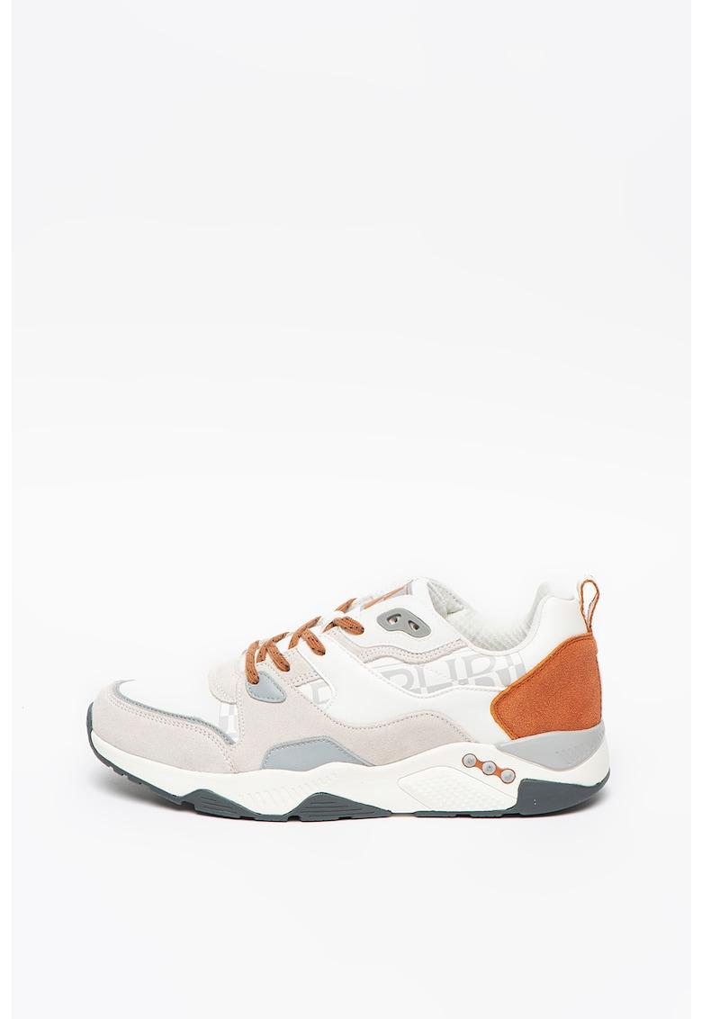 Pantofi sport din piele intoarsa cu garnituri din piele ecologica Folake
