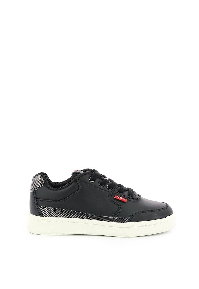 Pantofi sport din piele cu garnituri cu aspect metalizat imagine fashiondays.ro