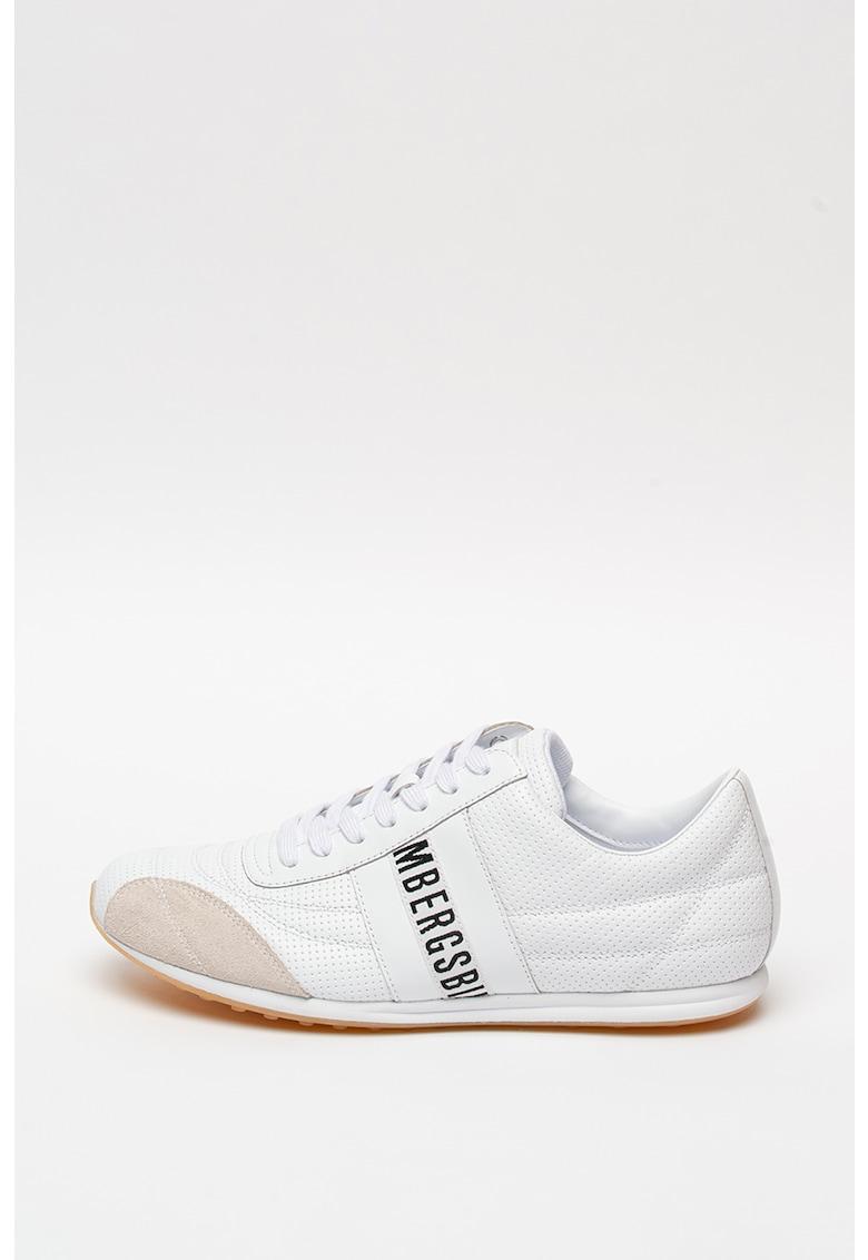 Pantofi sport de piele cu garnitura de piele intoarsa Barthel