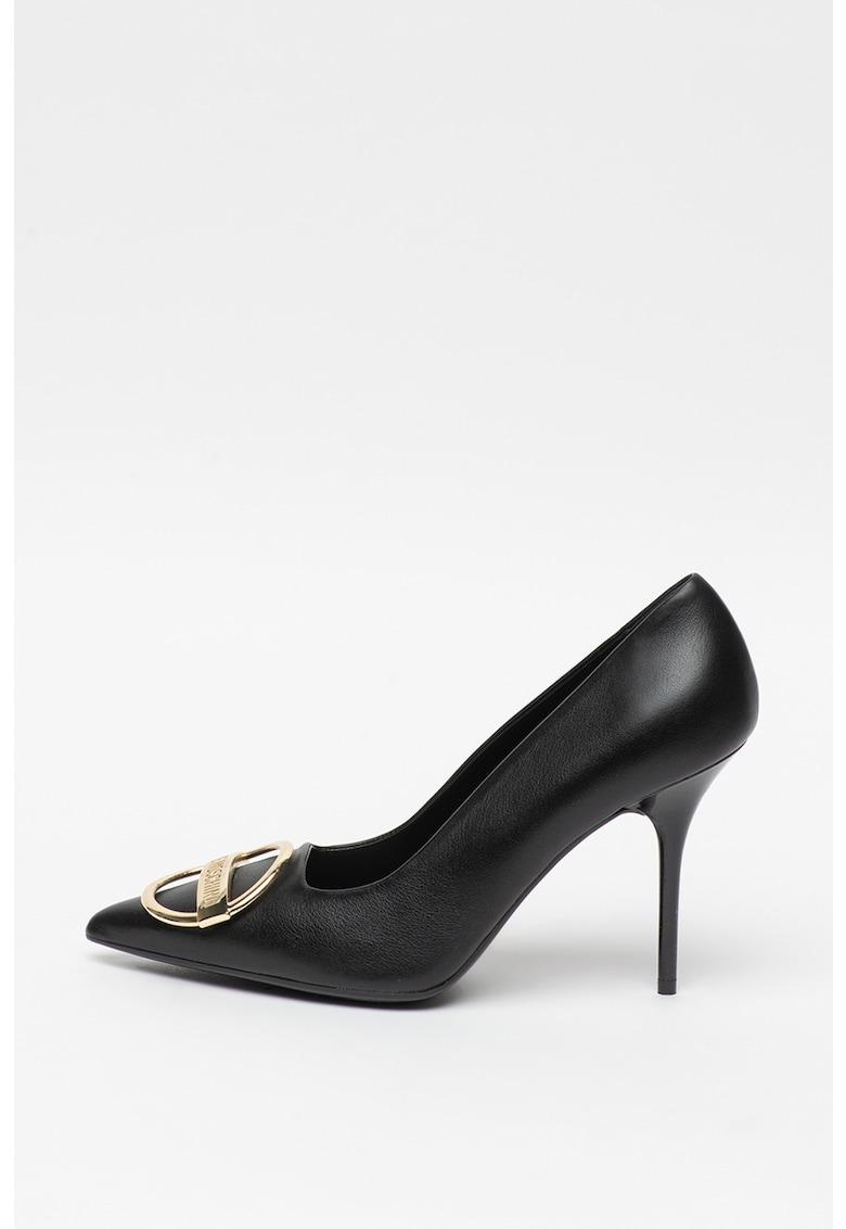 Pantofi de piele cu toc inalt imagine