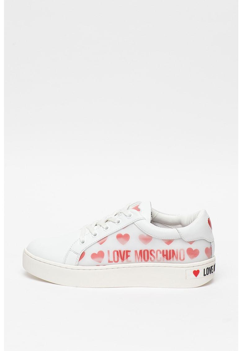 Pantofi sport cu model cu inimi
