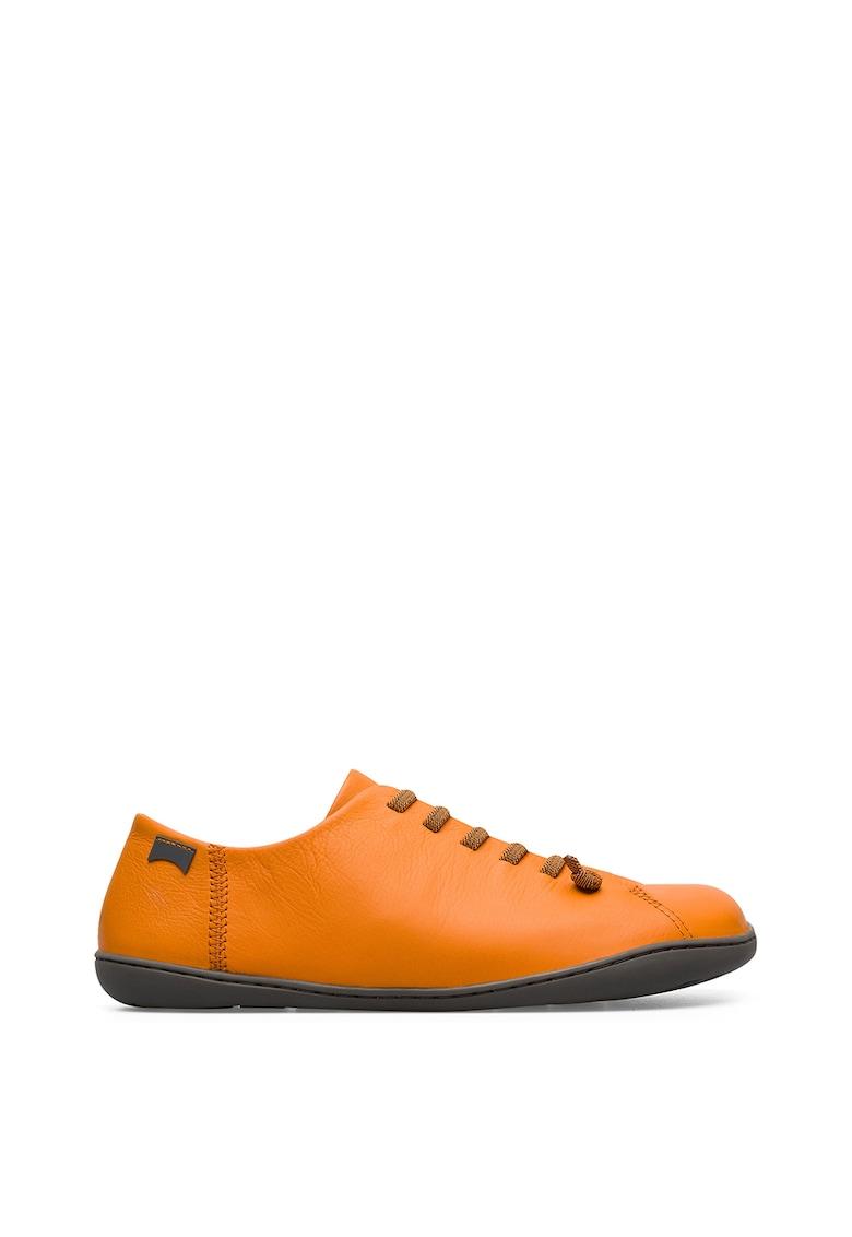 Pantofi causal de piele cu sireturi elastice Peu imagine
