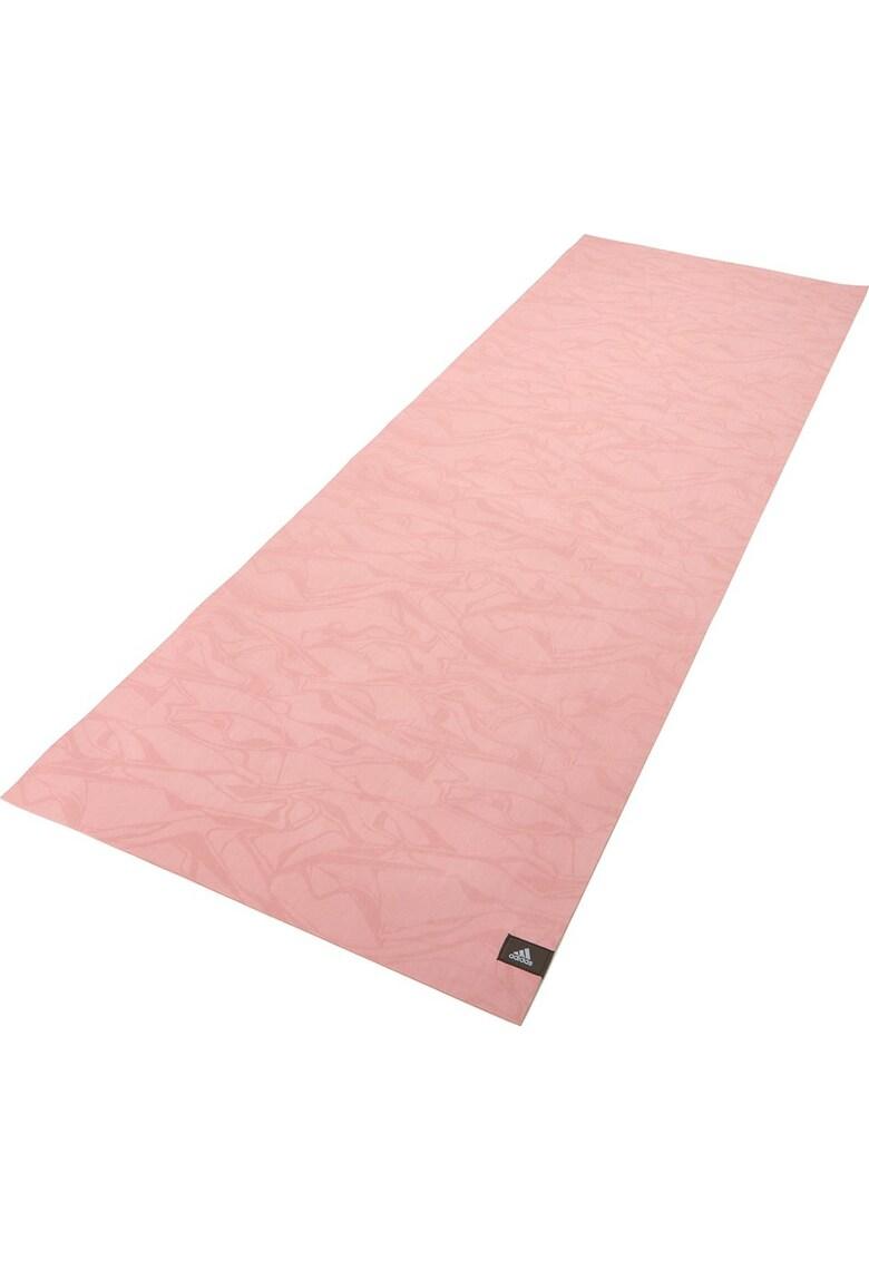 Saltea fitness/yoga/pilates cauciuc natural - 173x61x0.15 cm - roz imagine