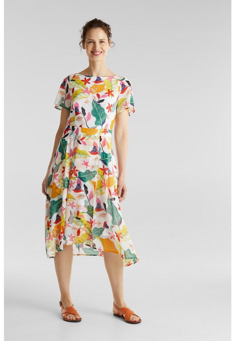 Rochie midi vaporoasa cu imprimeu floral imagine fashiondays.ro