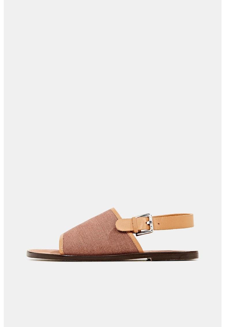 Sandale cu bareta slingback de piele