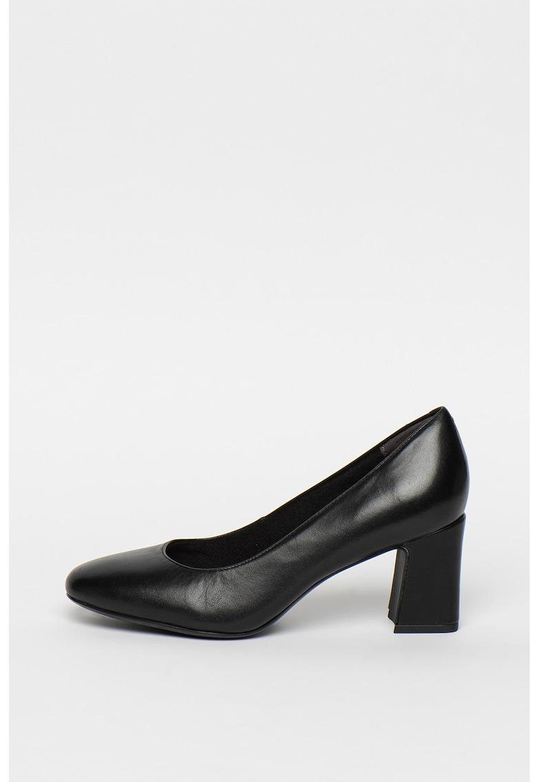 Pantofi de piele - cu toc masiv imagine