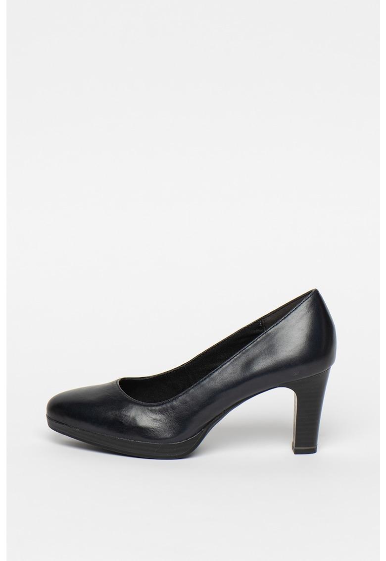 Pantofi de piele cu toc clasic