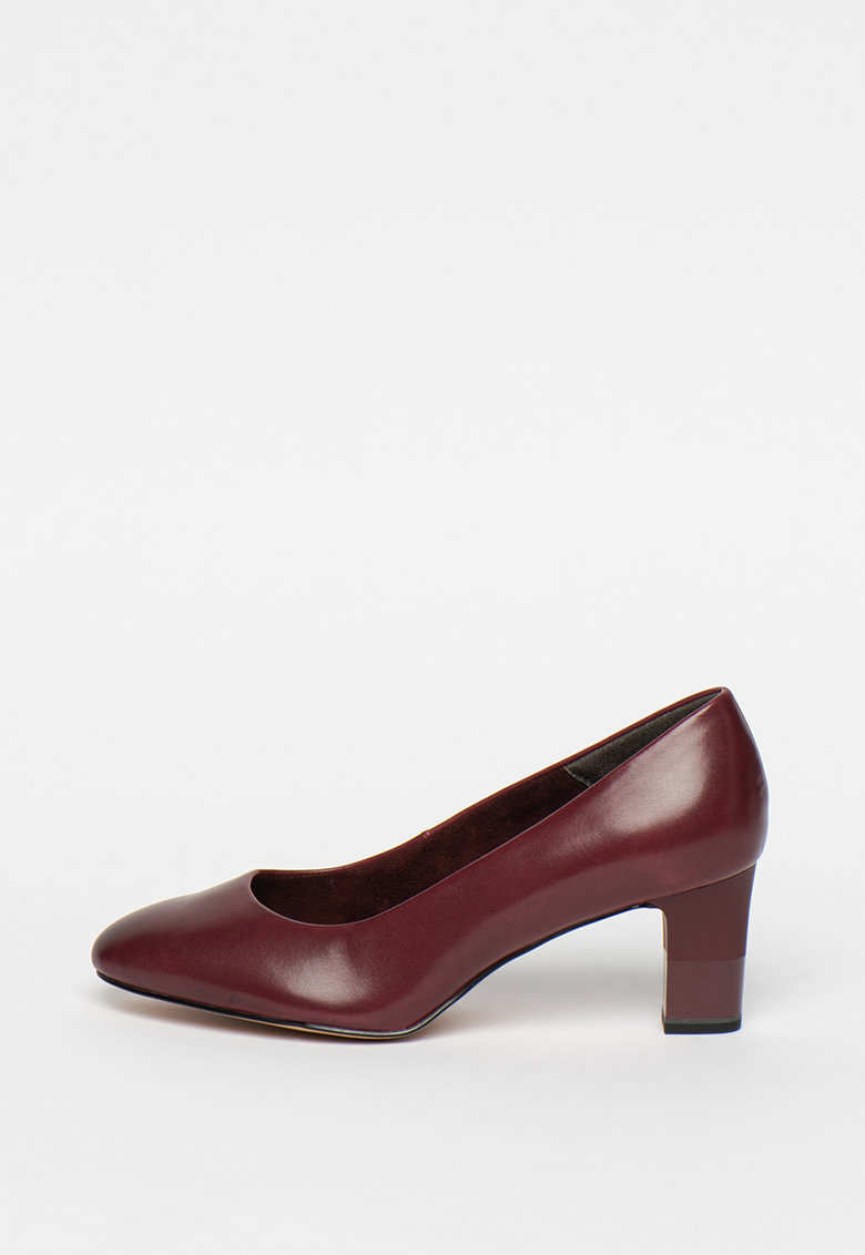 Pantofi de piele - cu amortizare si toc masiv