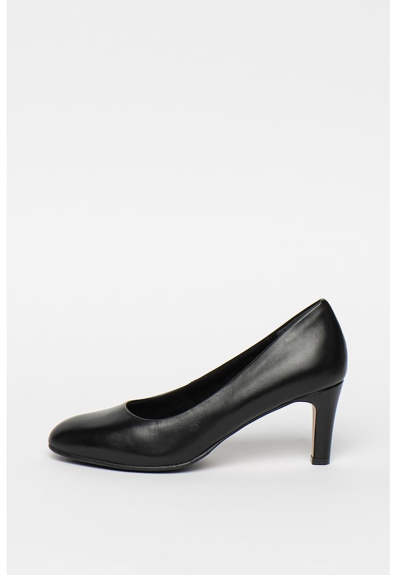 Pantofi de piele - cu amortizare si toc clasic