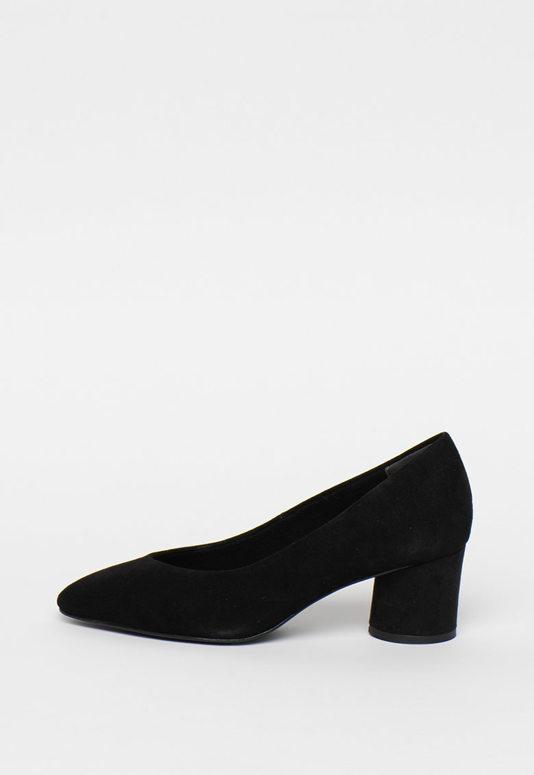 Pantofi de piele intoarsa cu varf migdalat