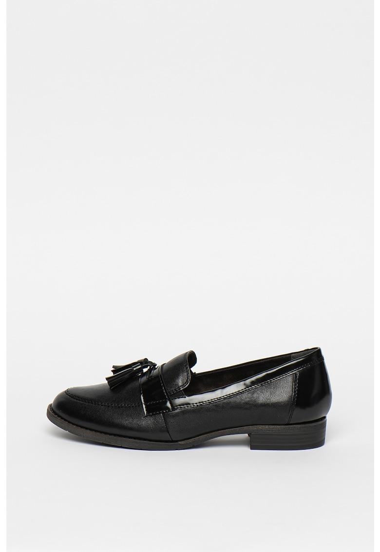 Pantofi loafer de piele si piele ecologica